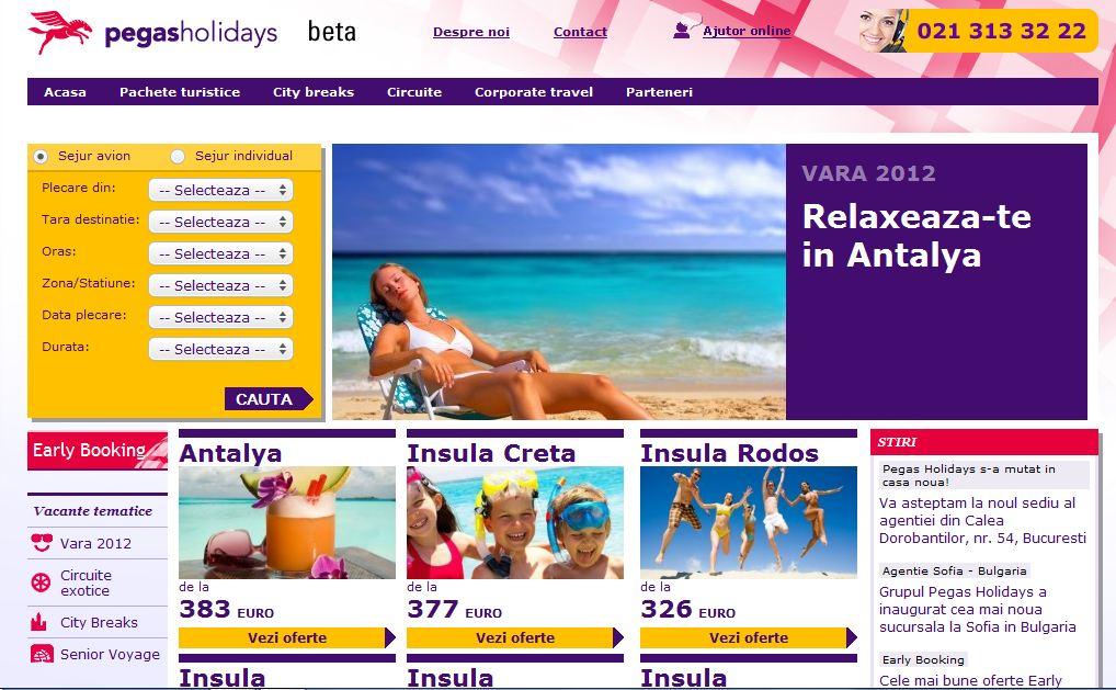 Top site uri de turism pe luna mai 2012 piata turistica for Top homepage