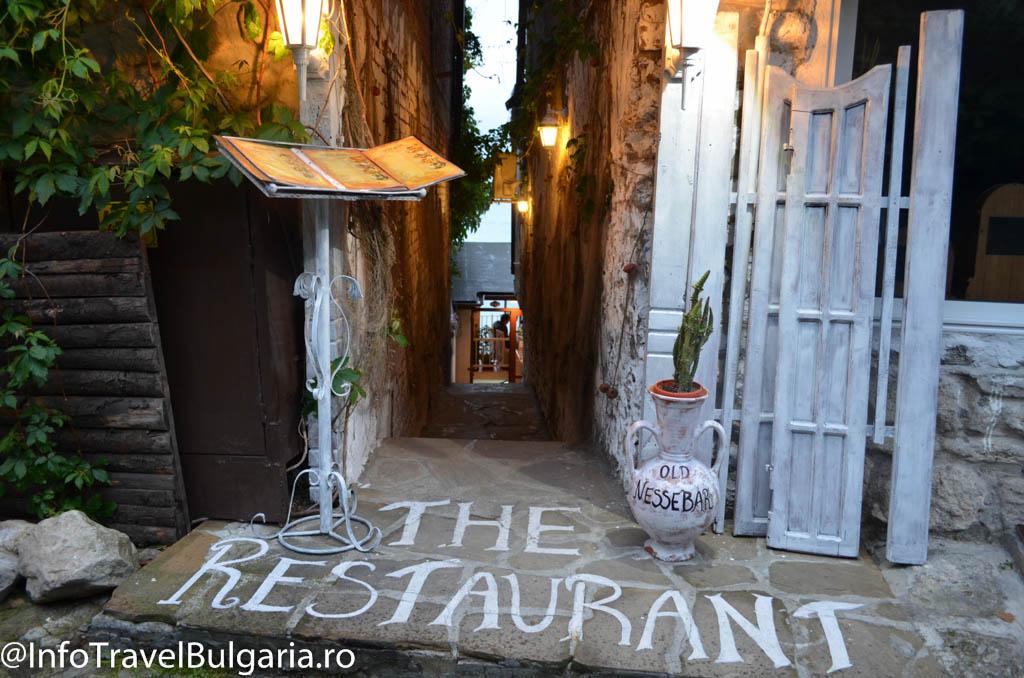 Restaurant in orasul vechi Nessebar, Bulgaria