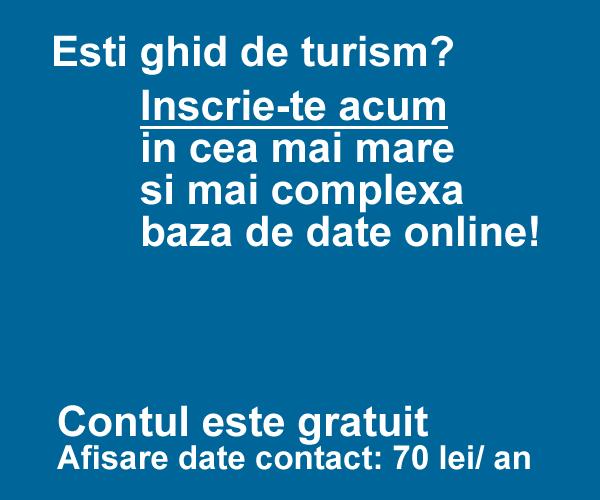 Esti ghid de turism? inscrie-te acum!