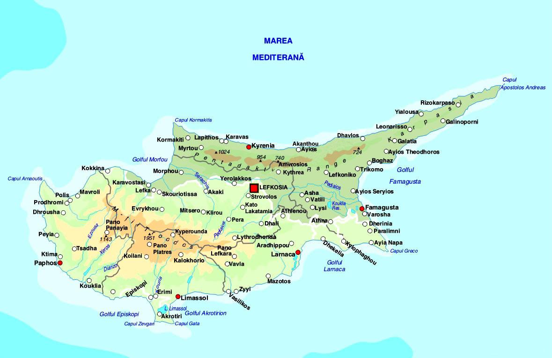 Harta Cipru, harta Cipru, harta Ciprului, map Cipru, map