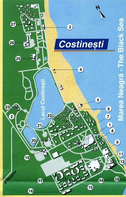 Harta Costinesti Harta Costinesti Harta Turistica