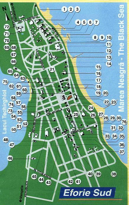 harta Eforie Sud