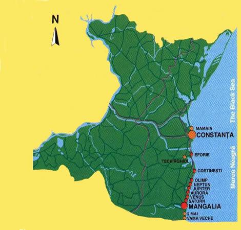 Harta Litoral Romania Harta Litoralului Romanesc