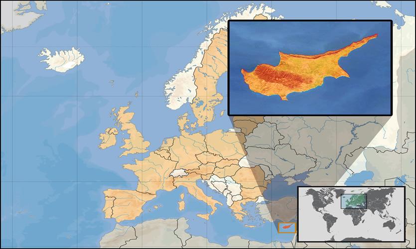 Harta turistica Cipru