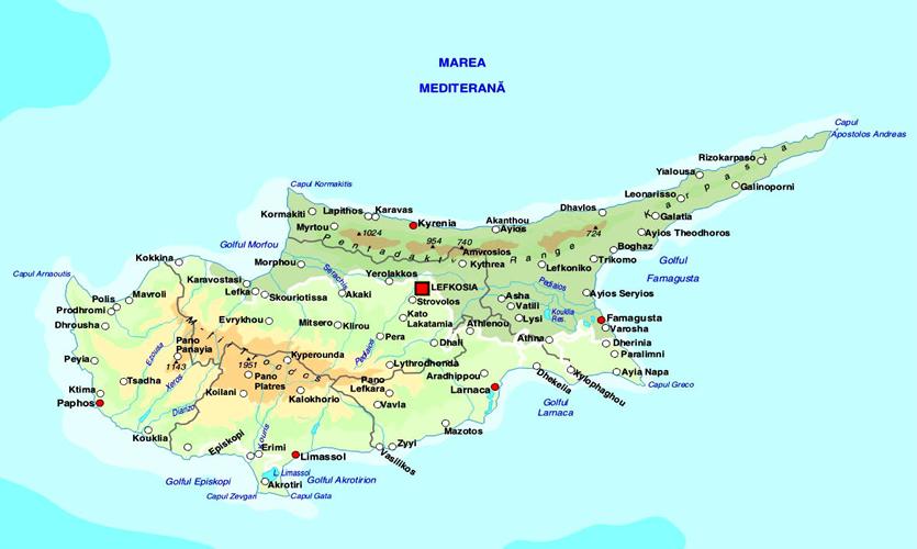 Harta Cipru, harta insula Cipru