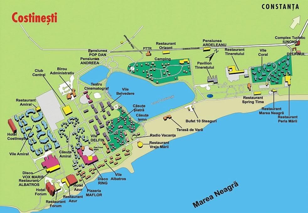Harta Costinesti Harta Costinesti Harta Turistica Costinesti