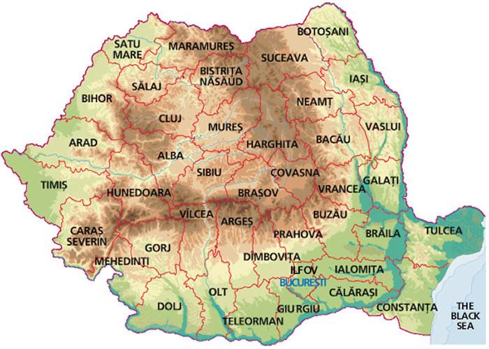 Harta Romania Harta Romania Harta Romaniei