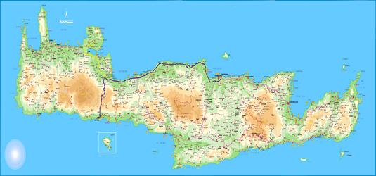 Harta insula Creta, harta insula Creta Grecia