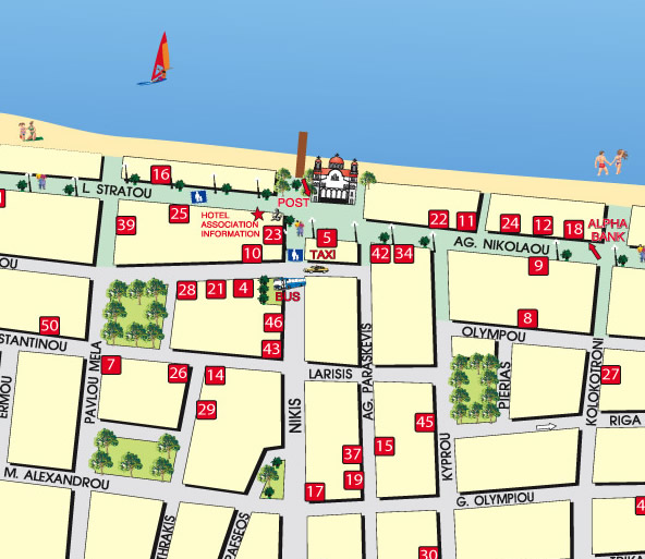 Harta Paralia Katerini, harta Paralia Katerini Grecia