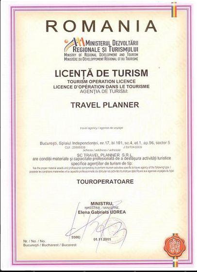 Licenta agentie turism Travel Planner