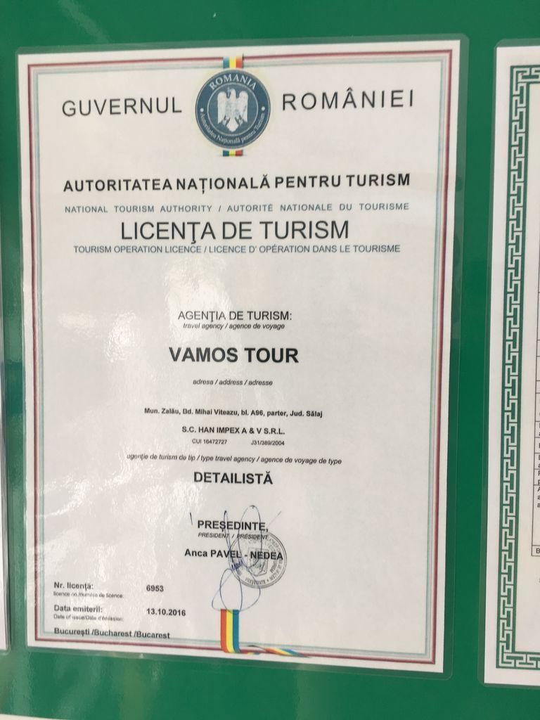 Licenta agentie turism Vamos Tour
