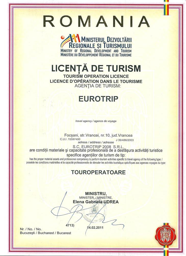Licenta agentie turism Eurotrip