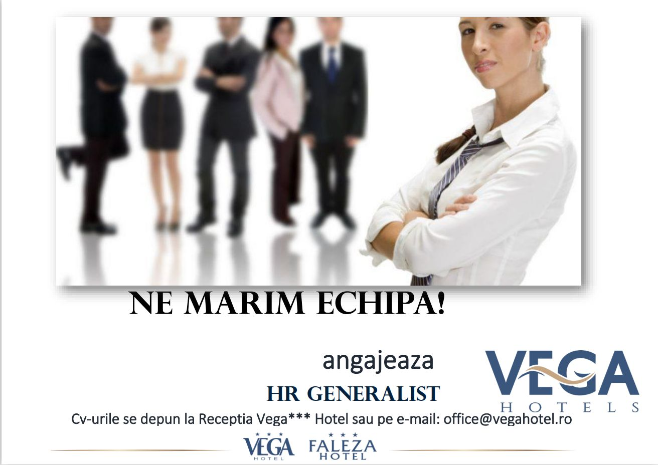 Hotel Vega din Mamaia angajeaza HR Generalist