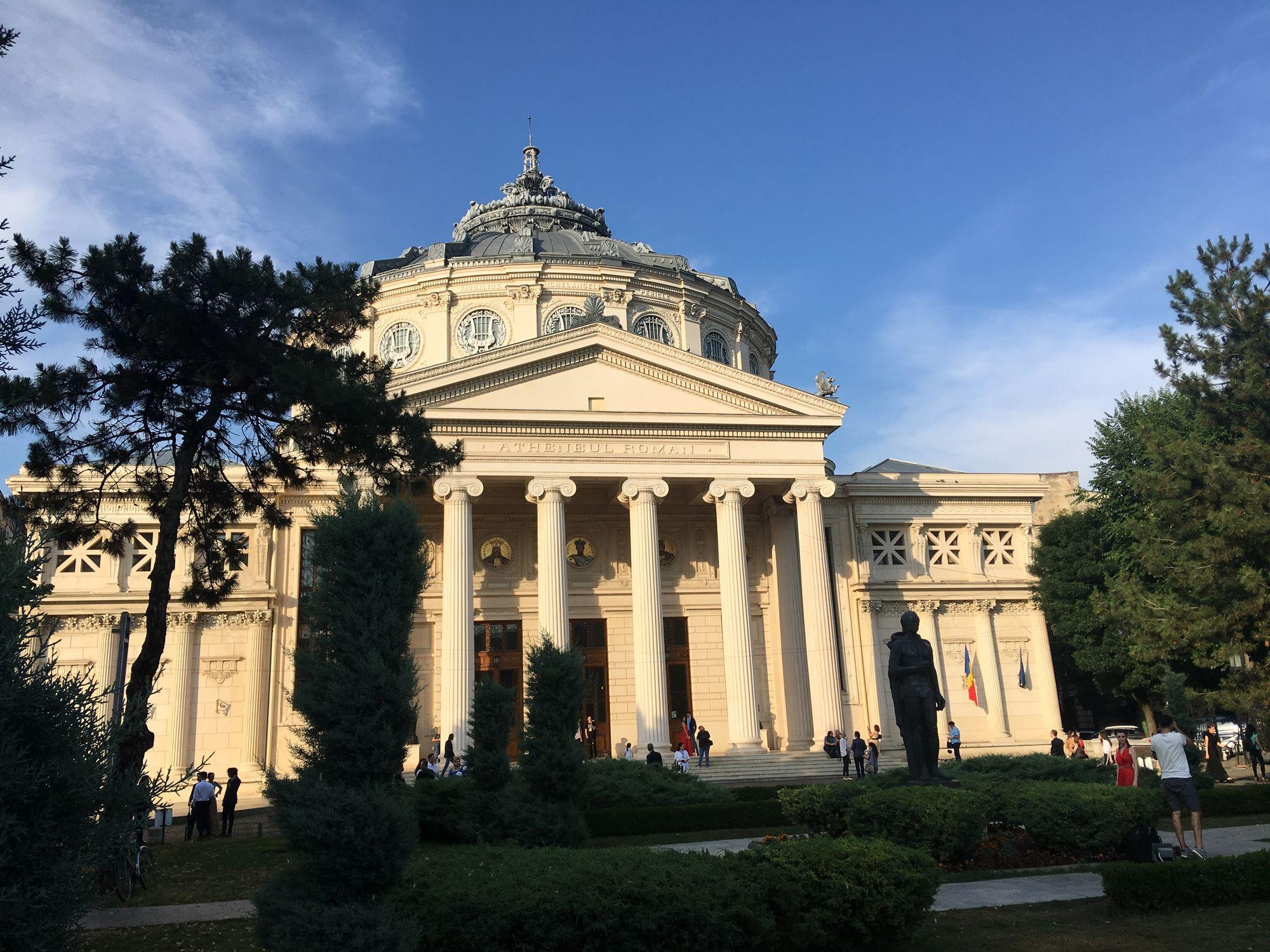 Imagine obiectiv Ateneul Roman
